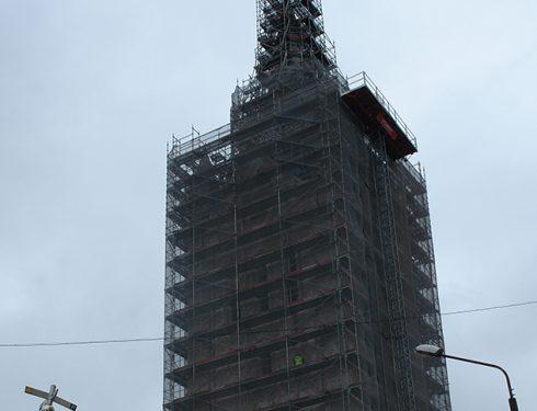 Cēsu Svētā Jāna luterāņu baznīcas restaurācija un labiekārtošana, jumta seguma nomaiņas darbi